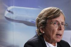 Transportation Safety Board Chair Kathy Fox speaks during a news conference in Ottawa November 26, 2014. REUTERS/Chris Wattie