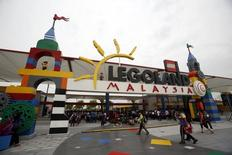 Visitors arrive for a media preview of Legoland Malaysia at Nusajaya in the southern state of Johor September 14, 2012. REUTERS/Edgar Su