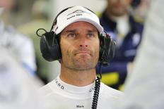 Ex-piloto de Fórmula 1 Mark Webber durante corrida da série Mundial Endurance em Le Mans, na França, em junho. 15/06/2014 REUTERS/Stephane Mahe