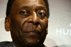 Ex-jogador Pelé durante entrevista coletiva no Rio de Janeiro. 05/02/2014 REUTERS/Lucas Landau