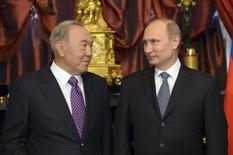 Владимир Путин и Нурсултан Назарбаев в Кремле, 24 декабря 2013 года. REUTERS/Alexei Nikolskyi/RIA Novosti/Kremlin