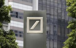 A logo of Deutsche Bank AG is seen in Tokyo July 16, 2014. REUTERS/Toru Hanai
