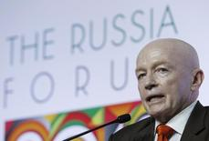 "Mark Mobius, executive chairman of Templeton Emerging Markets Group, attends a plenary session of ""The Russia Forum 2013"", an annual business and investment conference, in Moscow, April 18, 2013. REUTERS/Sergei Karpukhin (RUSSIA - Tags: BUSINESS HEADSHOT)"