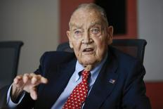 Jack Bogle, founder and retired CEO of The Vanguard Group, speaks during the Global Wealth Management Summit in New York in this June 17, 2014 file photo.   REUTERS/Shannon Stapleton/Files