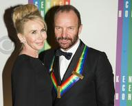 Musician Sting and his wife Trudie Styler arrive for the Kennedy Center Honors in Washington December 7, 2014.      REUTERS/Joshua Roberts