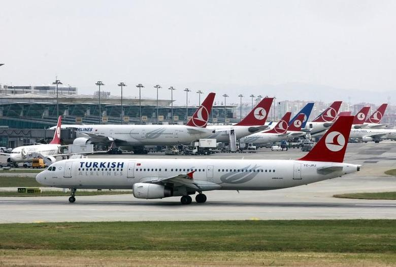 A Turkish Airlines plane prepares to take off at Ataturk International Airport in Istanbul May 15, 2013. REUTERS/Osman Orsal