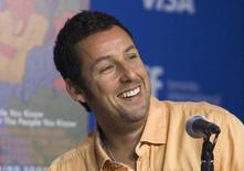 """Actor Adam Sandler attends a news conference to promote the film """"Men, Women & Children"""" at TIFF the Toronto International Film Festival in Toronto September 6, 2014. REUTERS/Fred Thornhill"""