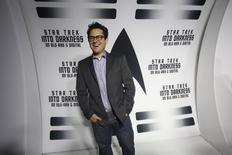 J.J. Abrams poses at the party at the California Science Center in Los Angeles, California September 10, 2013.   REUTERS/Mario Anzuoni
