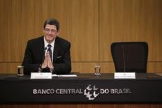 Novo ministro da Fazenda, Joaquim Levy, durante transmissão de cargo, em Brasília. 5/1/2015 REUTERS/Ueslei Marcelino