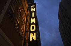The marquee of the Neil Simon theatre on Broadway in New York, October 26, 2014.    REUTERS/Carlo Allegri