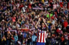 O jogador Fernando Torres é apresentado no Atlético de Madri, estádio Vicente Calderón, em Madri, na Espanha, nesta semana. 04/01/2015 REUTERS/Susana Vera