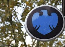 The Barclays logo is seen outside a branch of the bank in central London October 30, 2014. REUTERS/Toby Melville