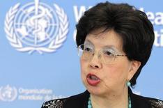 Diretora-geral da Organização Mundial de Saúde (OMS), Margaret Chan, fala com jornalistas sobre o apoio a países afetados pelo Ebola na sede da entidade em Genebra. 12/09/2014 REUTERS/Pierre Albouy