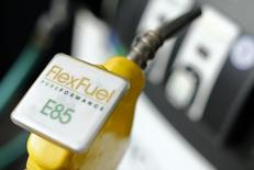 The fuel nozzle from a flex fuel pump is shown in this illustration photograph taken at a filling station in San Diego, California January 8, 2015.     REUTERS/Mike Blake