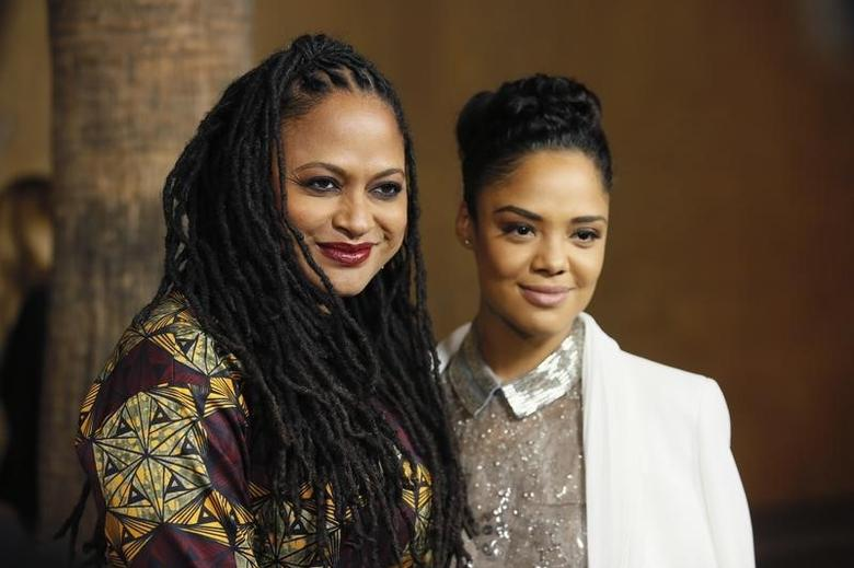Director and executive producer Ava DuVernay (L) and actress Tessa Thompson pose at a screening of the film ''Selma'' during AFI Fest 2014 in Hollywood, California November 11, 2014. REUTERS/Danny Moloshok
