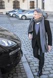 Diretor Roman Polanski deixa entrevista coletiva em Cracóvia, na Polônia. 15/01/2015 REUTERS/Michal Lepecki/Agencja Gazeta