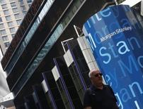 A man walks past the Morgan Stanley worldwide headquarters building in New York June 22, 2012.  REUTERS/Brendan McDermid
