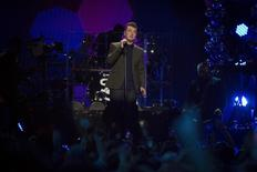 Sam Smith performs at the Z100's Jingle Ball 2014 at Madison Square Garden in New York December 12, 2014. REUTERS/Andrew Kelly/Files