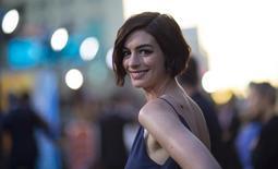 A atriz Anne Hathaway participa de evento em Hollywood, nos Estados Unidos, em outubro. 26/10/2014 REUTERS/Mario Anzuoni
