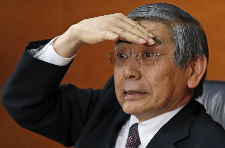 Bank of Japan (BOJ) Governor Haruhiko Kuroda attends a news conference at the BOJ headquarters in Tokyo January 21, 2015.  REUTERS/Toru Hanai