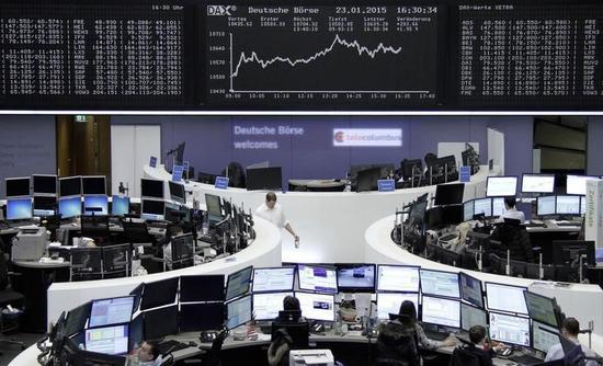 欧州株式市場は続伸、ECB量的緩和が引き続き追い風