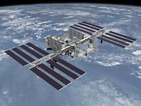 Foto de divulgação da Nasa mostra a Estação Espacial Internacional sobre a Terra. REUTERS/NASA/Divulgação via Reuters