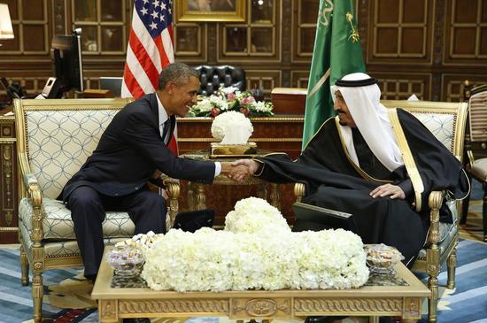 米大統領がサウジ新国王と会談、イランやエネルギー問題を協議