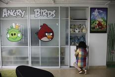 An employee works inside an office of Rovio, the company which created the video game Angry Birds, in Shanghai June 20, 2012. REUTERS/Aly Song (
