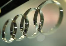 The Audi four rings logo is seen at the press day for the Washington Auto Show in Washington January 22, 2015.     REUTERS/Gary Cameron