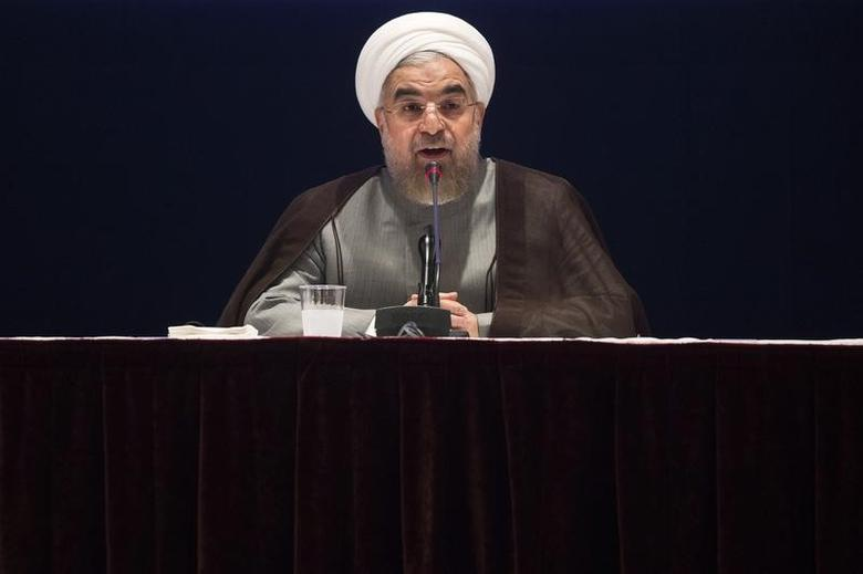 Iran's President Hassan Rouhani gives a news conference on the sidelines of the 69th United Nations General Assembly at United Nations Headquarters in New York September 26, 2014.  REUTERS/Adrees Latif