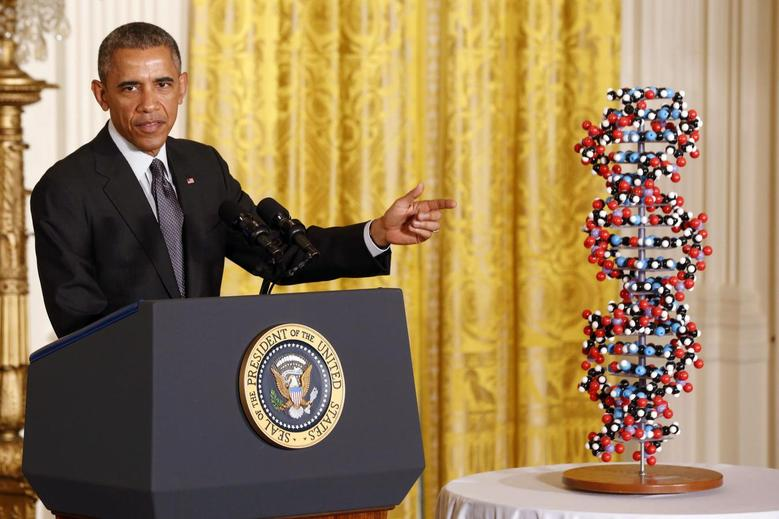 U.S. President Barack Obama makes remarks highlighting investments to improve health and treat disease through precision medicine while in the East Room of the White House in Washington, January 30, 2015. REUTERS/Larry Downing