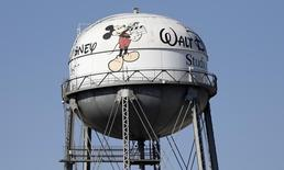 The water tank of The Walt Disney Co Studios is pictured in Burbank, California February 5, 2014. REUTERS/Mario Anzuoni