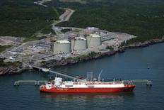 The Canaport liquid natural gas (LNG) facility in Saint John, New Brunswick is seen in a 2010 handout photo. REUTERS/Repsol/Handout