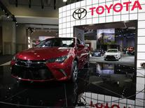 A 2015 Toyota Camry (L) is seen at the press day for the Washington Auto Show in Washington January 22, 2015.     REUTERS/Gary Cameron