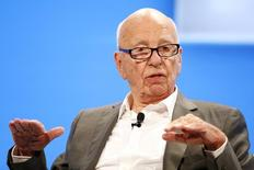 Rupert Murdoch, Executive Chairman News Corp and Chairman and CEO 21st Century Fox speaks at the WSJD Live conference in Laguna Beach, California October 29, 2014.  REUTERS/Lucy Nicholson