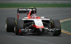 Marussia Formula One driver Max Chilton of Britain takes a corner during the Australian F1 Grand Prix at the Albert Park circuit in Melbourne in this file photo taken on March 16, 2014. REUTERS/Jason Reed