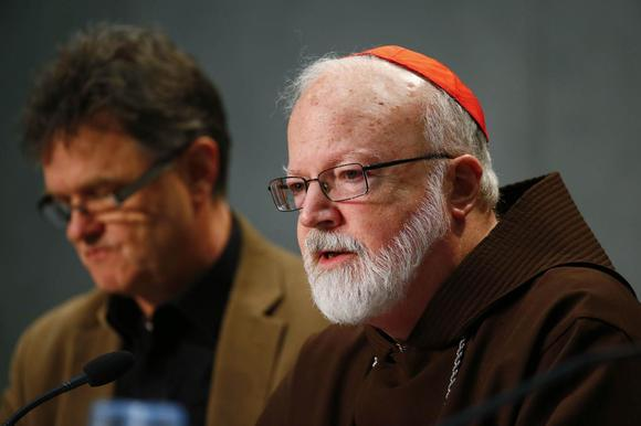 Cardinal Sean Patrick O'Malley, a member of a commission tackling sexual abuse, holds a news conference at the Vatican, February 7, 2015. REUTERS/Tony Gentile