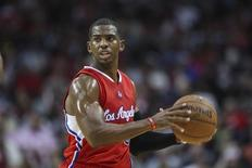 Nov 28, 2014; Houston, TX, USA; Los Angeles Clippers guard Chris Paul (3) controls the ball during the second half against the Houston Rockets at Toyota Center. The Clippers defeated the Rockets 102-85. Mandatory Credit: Troy Taormina-USA TODAY Sports