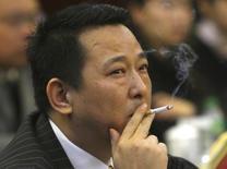 Председатель Hanlong Mining Лю Хань на конференции в Мяньяне. 21 марта 2008 года. Китайские власти в понедельник казнили бывшего горного магната, близкого к старшему сыну бывшего министра общественной безопасности КНР Чжоу Юнкана, также арестованному в ходе серии громких антикоррупционных расследований, сообщили государственные СМИ. REUTERS/Stringer