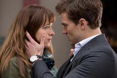 Dakota Johnson and Jamie Dornan in Fifty Shades of Grey. REUTERS/Universal Studios