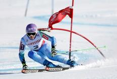 Feb 12, 2015; Beaver Creek, CO, USA; Tina Maze of Slovenia during run two of the women's giant slalom in the FIS alpine skiing world championships at Raptor Racecourse. Mandatory Credit: Erich Schlegel-USA TODAY Sports