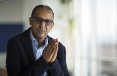 "Director Abderrahmane Sissako of the movie ""Timbuktu,"" nominated for an Academy Award for Foreign Language Film, poses for a portrait in Los Angeles, California February 3, 2015. Picture taken February 3, 2015.  REUTERS/Mario Anzuoni"