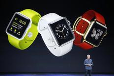 Apple CEO Tim Cook speaks about the Apple Watch during an Apple event at the Flint Center in Cupertino, California, September 9, 2014. REUTERS/Stephen Lam