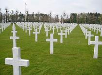 A view of the Oise-Aisne American Cemetery, Fere-en-Tardenois, near Chateau-Thierry, France in this picture taken in April 2008, with 6,012 at rest there including Paul Cody Bentley who died September 16, 1917. REUTERS/Alden Bentley