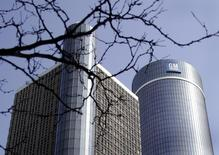 The General Motors world headquarters is seen in downtown Detroit, Michigan in this file photo taken on May 31, 2009. REUTERS/Rebecca Cook