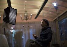 """El cineasta mexicano Alejandro González Iñárritu es entrevistado sobre su película """"Birdman"""" en Los Angeles. Diciembre, 2014.   REUTERS/Mario Anzuoni"""