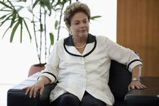 Presidente Dilma Rousseff em cerimônia no Palácio do Planalto 13/02 2015. REUTERS/Ueslei Marcelino