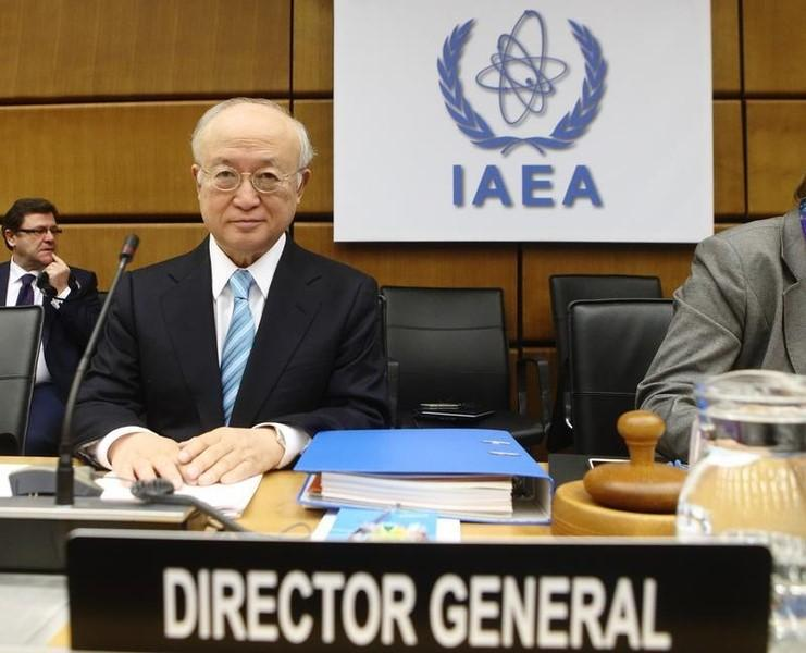 International Atomic Energy Agency (IAEA) Director General Yukiya Amano waits for the start of a board of governors meeting at the IAEA headquarters in Vienna March 2, 2015.  REUTERS/Heinz-Peter Bader