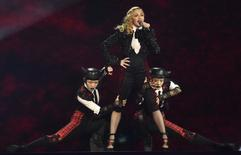Singer Madonna performs at the BRIT music awards at the O2 Arena in Greenwich, London, February 25, 2015. REUTERS/Toby Melville