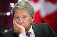 Hunter Harrison, CEO of Canadian Pacific Railway Limited, looks on before speaking to the economic community at a business luncheon in Toronto, March 2, 2015.  REUTERS/Mark Blinch